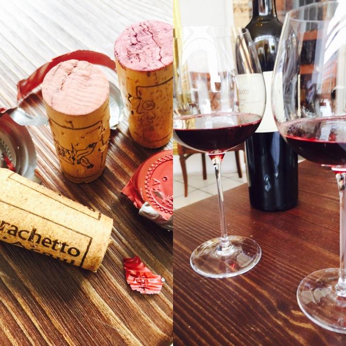 Tasting wines from Maranzana Winery